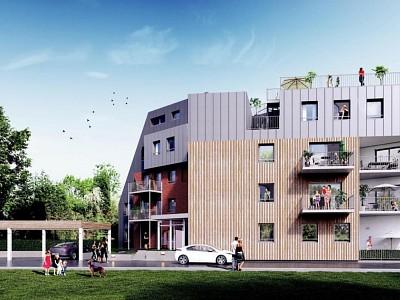 APPARTEMENT T2 NEUF A VENDRE - MARCQ EN BAROEUL - 53,74 m2 - 212000 €